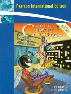 C How to Program, 5/e (IE-Paperback)-cover