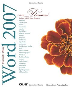Microsoft Office Word 2007 On Demand-cover