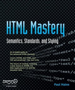 HTML Mastery: Semantics, Standards, and Styling-cover