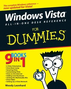 Windows Vista All-in-One Desk Reference For Dummies (Paperback)-cover