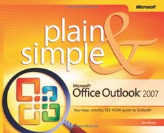 Microsoft Office Outlook 2007 Plain & Simple (Paperback)-cover