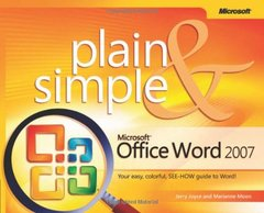 Microsoft Office Word 2007 Plain & Simple (Paperback)-cover