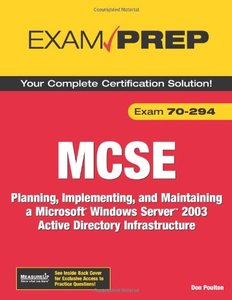 MCSE 70-294 Exam Prep: Planning, Implementing, and Maintaining a Microsoft Windows Server 2003 Active Directory Infrastructure, 2/e-cover
