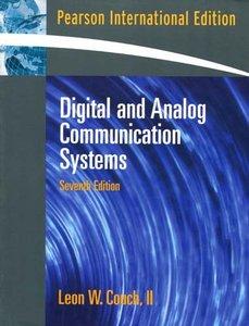 Digital and Analog Communication Systems, 7/e(美國版ISBN: 0131424920)-cover