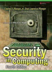 Security in Computing, 4/e (Hardcover)-cover
