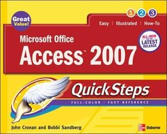 Microsoft Office Access 2007 QuickSteps (Paperback)-cover