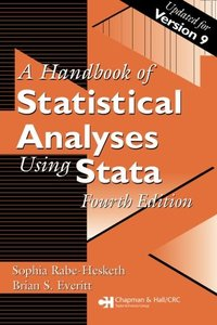 A Handbook of Statistical Analyses Using Stata, 4/e (Paperback)-cover