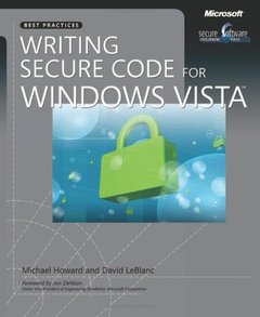 Writing Secure Code for Windows Vista (Paperback)-cover