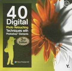 40 Digital Photo Retouching Techniques with Photoshop Elements-cover