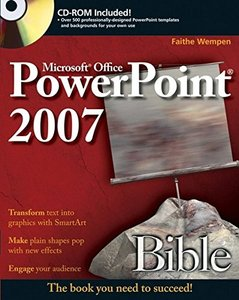 Microsoft PowerPoint 2007 Bible (Paperback)-cover