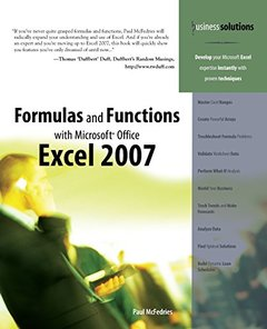 Formulas and Functions with Microsoft Office Excel 2007 (Paperback)-cover