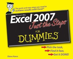 Excel 2007 Just the Steps For Dummies-cover