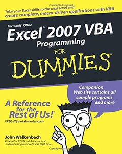 Excel 2007 VBA Programming For Dummies-cover