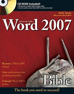 Microsoft Word 2007 Bible (Paperback)-cover