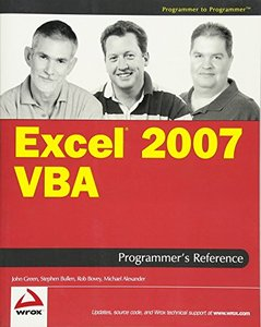 Excel 2007 VBA Programmer's Reference-cover
