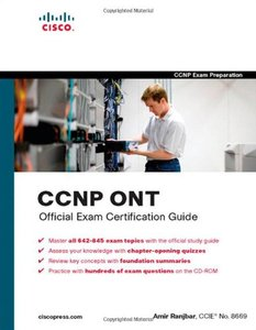 CCNP ONT Official Exam Certification Guide (Hardcover)-cover