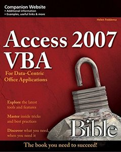 Access 2007 VBA Bible: For Data-Centric Microsoft Office Applications (Paperback)-cover