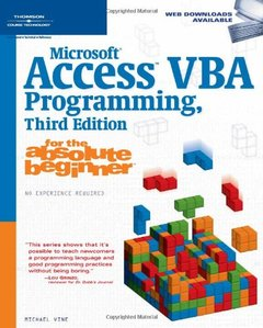 Microsoft Access Vba Programming for the Absolute Beginner, 3/e-cover