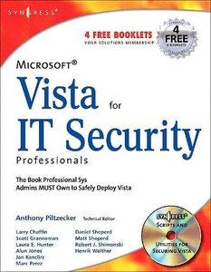 Microsoft Vista for IT Security Professionals (Paperback)-cover
