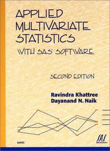 Applied Multivariate Statistics With SAS Software, 2/e (Paperback)-cover