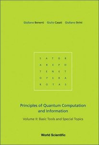 Principles of Quantum Computation And Information: Basic Tools And Special Topics-cover