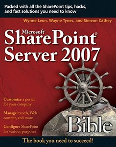 Microsoft SharePoint Server 2007 Bible (Paperback)-cover