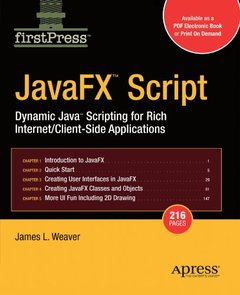 JavaFX Script; Dynamic Java Scripting for Rich Internet/Client-side Applications-cover