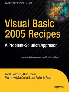 Visual Basic 2005 Recipes: A Problem-Solution Approach-cover