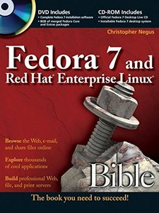 Fedora 7 and Red Hat Enterprise Linux Bible (Paperback)-cover