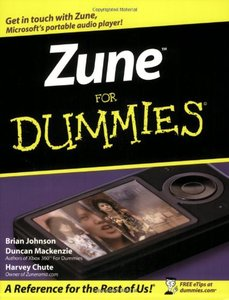 Zune For Dummies-cover