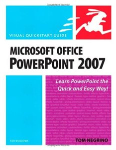 Microsoft Office PowerPoint 2007 for Windows: Visual QuickStart Guide-cover