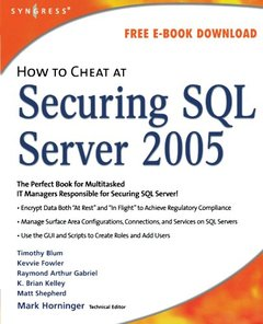 How to Cheat at Securing SQL Server 2005 (Paperback)-cover