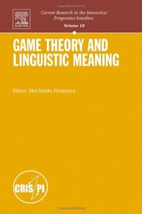 Game Theory and Linguistic Meaning (Hardcover)-cover