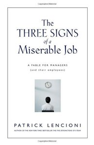 The Three Signs of a Miserable Job: A Fable for Managers-cover