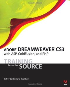Adobe Dreamweaver CS3 with ASP, ColdFusion, and PHP: Training from the Source (Paperback)-cover