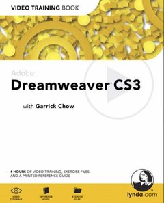Adobe Dreamweaver CS3 : Video Training Book (Paperback)-cover