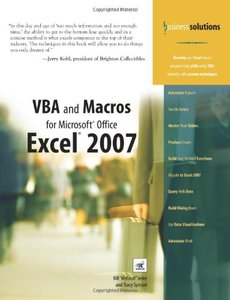 VBA and Macros for Microsoft Office Excel 2007, 2/e-cover