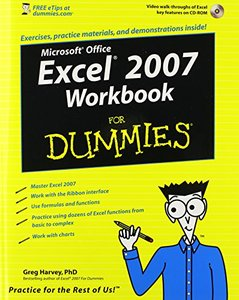 Excel 2007 Workbook For Dummies-cover