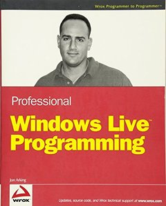 Professional Windows Live Programming (Paperback)-cover