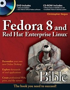 Fedora 8 and Red Hat Enterprise Linux Bible (Paperback)-cover