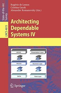 Architecting Dependable Systems IV (Lecture Notes in Computer Science)-cover