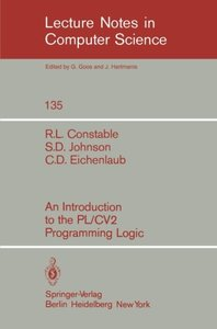 An Introduction to the PL/CV2 Programming Logic (Lecture Notes in Computer Science)-cover