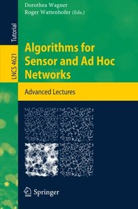 Algorithms for Sensor and Ad Hoc Networks: Advanced Lectures (Lecture Notes in Computer Science)-cover
