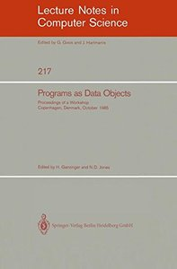 Programs as Data Objects-cover
