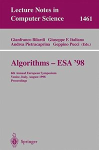 Algorithms - ESA '98: 6th Annual European Symposium, Venice, Italy, August 24-26, 1998, Proceedings (Lecture Notes in Computer Science)-cover