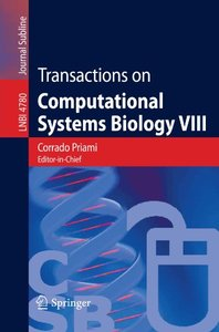 Transactions on Computational Systems Biology VIII (Lecture Notes in Computer Science)-cover