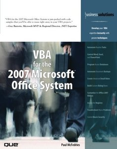 VBA for the 2007 Microsoft Office System (Paperback)-cover
