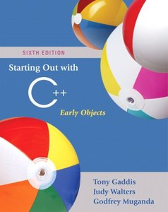 Starting Out with C++: Early Objects, 6/e (Paperback)-cover