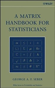 A Matrix Handbook for Statisticians-cover
