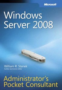 Windows Server 2008 Administrator's Pocket Consultant (Paperback)-cover
